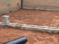 Extension in early stages of ground works in Liverpool