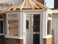 Porch/Roof being built in Kirkby
